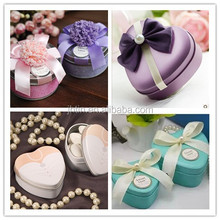 alibaba china dongguan wholesale metal wedding favor box/romantic gift box for candy