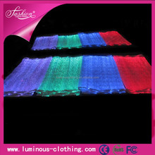 New technology fashion optic fiber luminous led fabric wholesale with RGB changeable colors