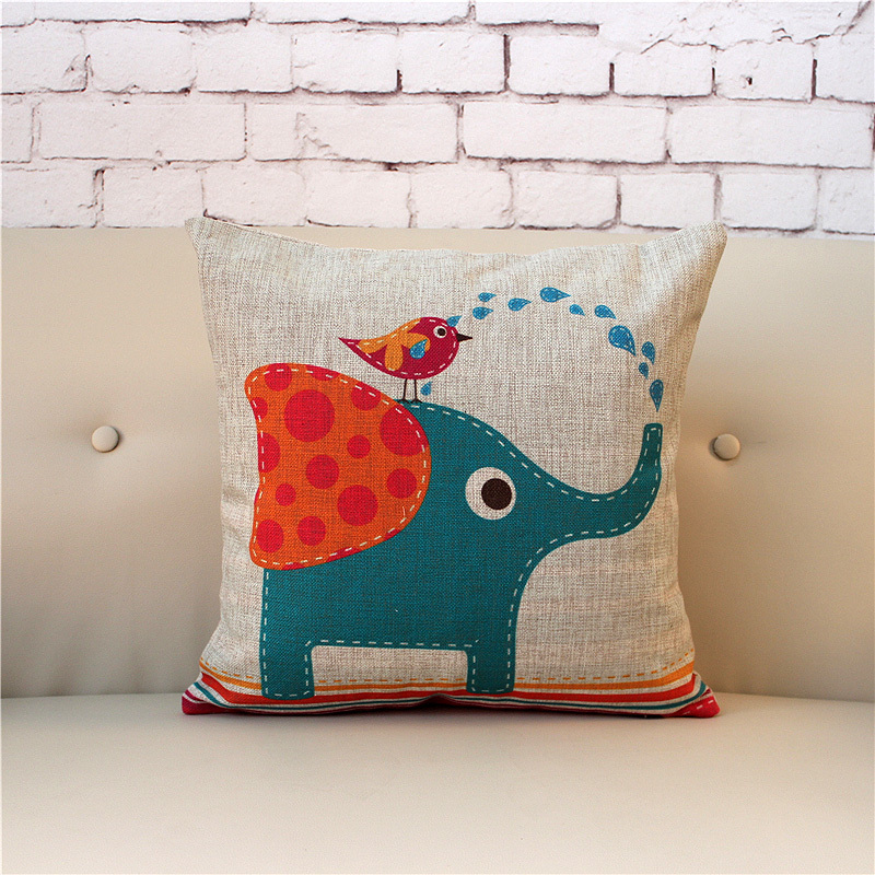 Animal Pillows Bulk : Wholesale Cute Cartoon Animals Design Cushion Pillow Wooden Sofa Seat Cushion Cover Stadium Seat ...