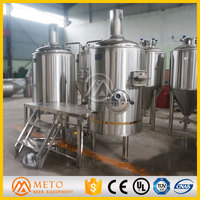 stainless steel 304 or red copper beer brew kettle,brewhouse for pub,bar,hotel