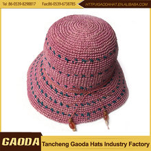 Hot Selling Natural Crochet Straw Hats For Girls