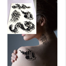3D stereo Temporary Tattoo Tattoos Inspired Colorful Black Body Art