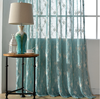 leaf design embroidered voile curtain fabric