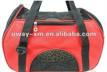 UW-PB-058 stylish red portable dog bag for coming 2012