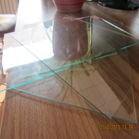 """certificate clear flat 2"""" thick plate glass"""
