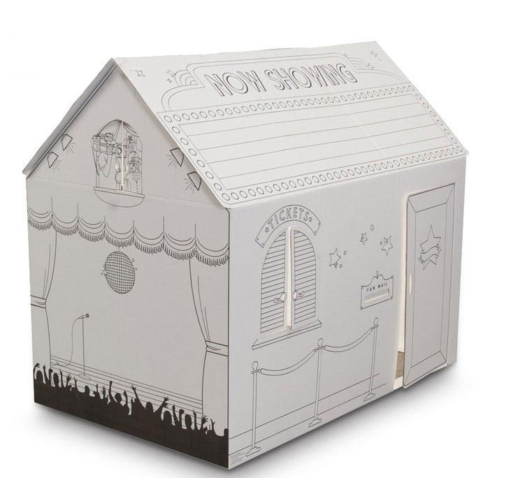 Couleur imprim e promotion poign e carton conception de - Maison en papier pliage ...