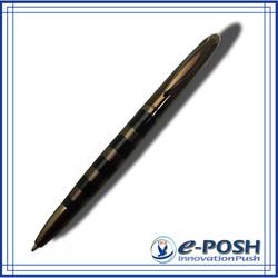 Chocolate brown style parker gel black color ink refill metal ballpoint pen