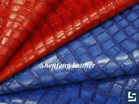 2015 Fashion Crocodile leather new design pu synthetic leather fabric for woman bags handbags leather material