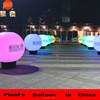 Hot sale inflatable advertising large big pvc balloon factory with led light stand on ground