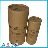 Custom kraft paper round gift boxes for olive oil bottles