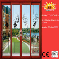 SC-AAD085 Used balcony frosted glass sliding door for sale