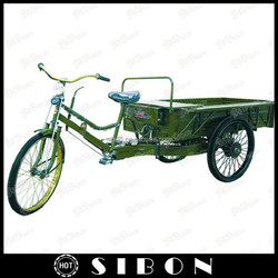 """SIBON 24"""" man power tricycle cargo with cabin of tailered sizes"""