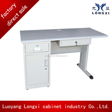 Simple design metal office table with drawers and study table keyboard tray/steel office computer desk