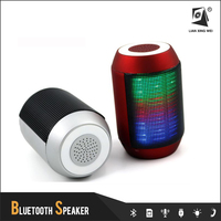 bt600 factory new design mini portable bluetooth active speaker with 8 color LED light
