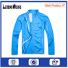 Light blue zippered high-quality striped thick sport jacket with inner lining