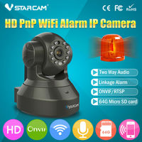 Chipset Hisilicon Wireless Coms Alarm IP Camera WiFi With I O Alarm Port