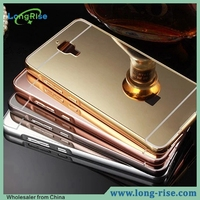 Best Price Luxury Golden Plated Mirror Back Aluminum Metal Bumper Case for Xiaomi Mi4