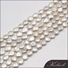 Hot selling cheap nice quality 10-11 mm white coin pearl string for making jewelry