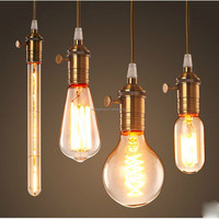 Hot Selling Vintage Simple zhongshan Copper Pendant Lamp With E27 Edison Bulb China Supplier