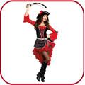 Atacado baratos feminino traje do pirata halloween costume PGFC-3029