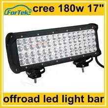 17 inch offroad quad row led light bar 180w for boats, yatch, heavy duty engineering machine
