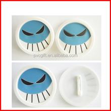 rubber broochs/plastic brooch/ONE PIECE brooch