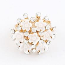 Best selling rhinestone ring adjustable fashion rings