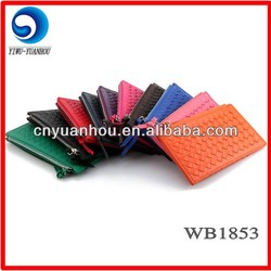 colorful woven pu card holder business card holder