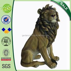 27 inch Best Sale Home&Garden Decoration Sitting Lion Garden Statues