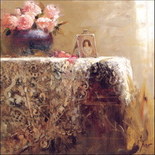 Traditional Flower Oil Painting On the Table