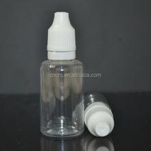 PET clear/transparent plastic for essensial oil bottles