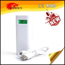 2 bay 18650 battery charger , Portable mini E4S powerbank , Original Soshine white LCD USB power bank