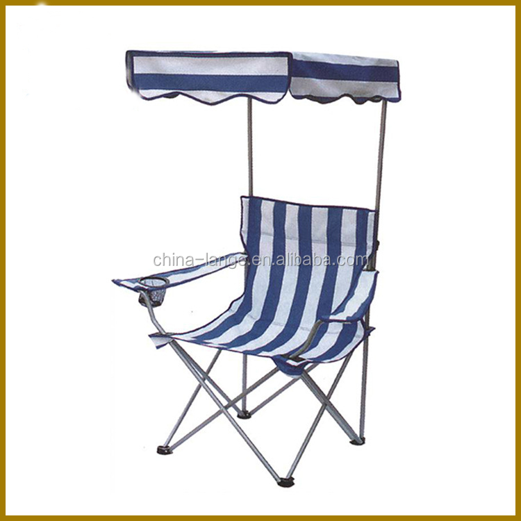 lange steel and fabric with sun shade big size folding chair folding