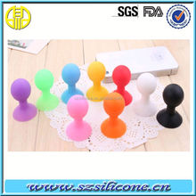 silicone round sucker for mobilephone