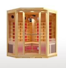 2015 year new modern house design wooden far infrared /FIR sauna room with CE certificate