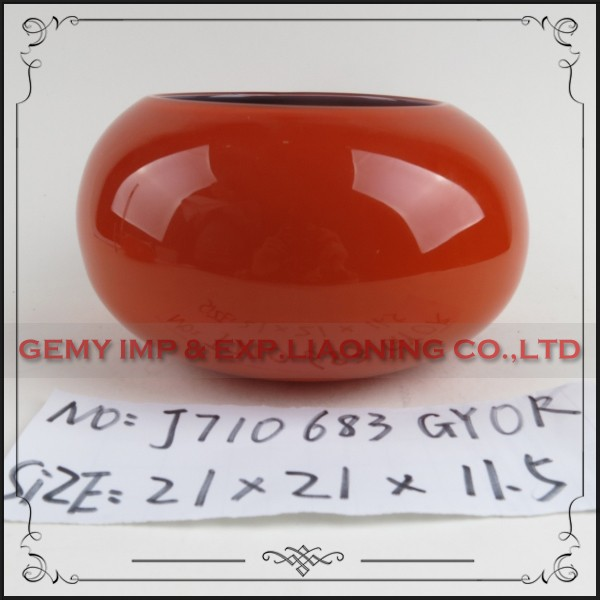 accueil d coration vases main pas cher orange vase en verre. Black Bedroom Furniture Sets. Home Design Ideas