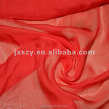 100%silk plain dyed silk chiffon fabric