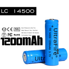 14500 li-ion battery 3.7v 1200mah rechargeable lithium ion aa battery for electrical toy