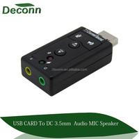 7.1 Channel USB External Sound Card Audio Adapter USB 2.0 Audio Sound Card