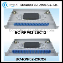 With cold-rolled steel material Rack Mounted Patch Panel and 24 cores FC Port
