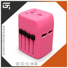 Hot sell gift items UK/EU/AUS/US plug universal world travel adapter for mobile phone