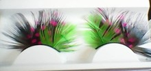 Beautiful charming costume feather eyelashes