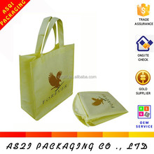 foldable non-woven bag with pocket