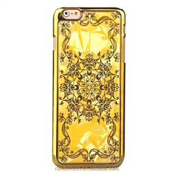 fashion bling goiden mobile phone case for iphone 6,sliding luxury cover for iphone 6,for iphone 6 electronic plated case