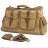 Vintage Military Canvas Leather men travel bags Tote luggage duffle bag weekend