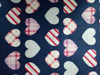 china supply heart design printed flannel fabric 32*12 40*43