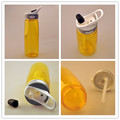 china fábrica de bicicletas reutilizáveis copo plástico com tampa de garrafa de suco de garrafa de bebida