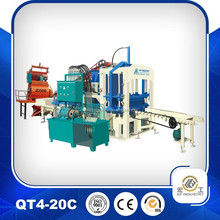QT4-20 concrete interlocking block machine,concrete hollow block making machine price