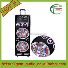 promotion wholesale portable loudspeaker/professional battery speaker Gem-703