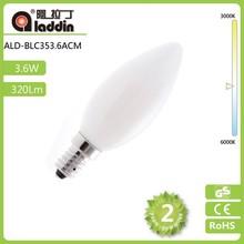 E27/E14 C35 3.6W energy filament led light bulb Opal